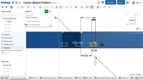 linear pattern sketch solidworks tech tip sketch patterns in onshape