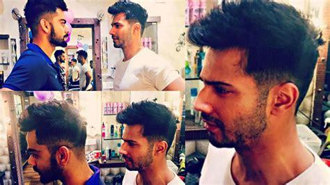 varun dhawan new hairstyle varun dhawan copies virat kohli s hairstyle youtube