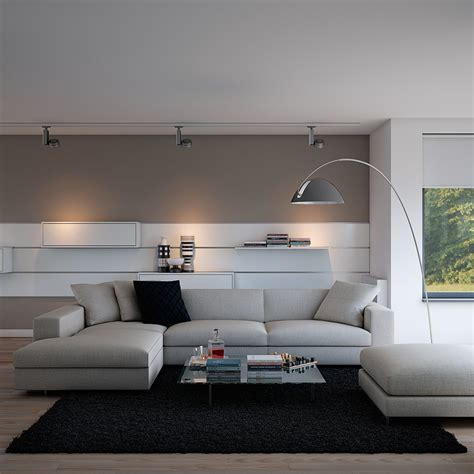 Indulgent Grey Apartment Neutral Couch Atop Black Area