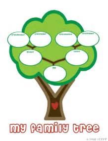 Tree Template For Preschool by Preschool Family Tree Template Family Tree Template