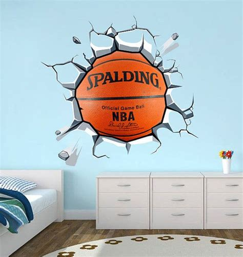 sports wall stickers for bedrooms basketball decal sticker vinyl wall decal housewares