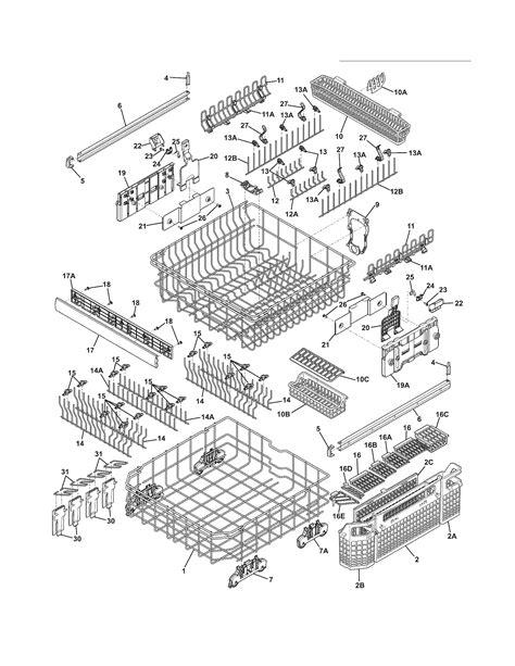 electrolux dishwasher parts diagram electrolux dishwasher parts model edw7505hss1b sears