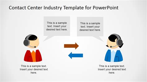 ppt templates for communication free download contact center industry powerpoint template slidemodel