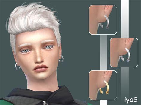 sims 4 mens earrings the sims resource spiked hoop male earrings by soloriya