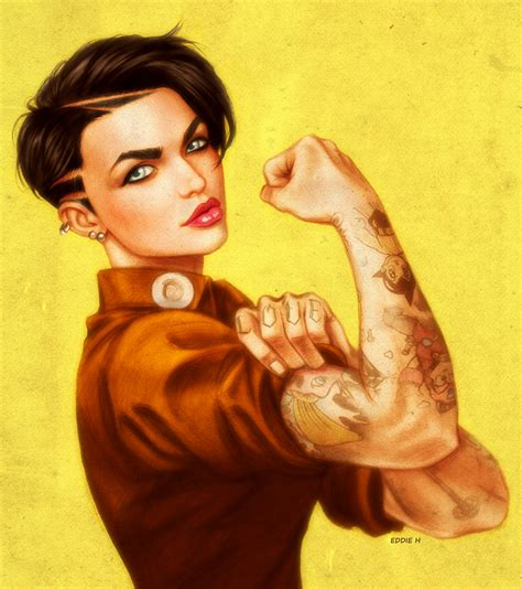tattoo girl from orange is the new black she can do it ruby rose by eddieholly on deviantart