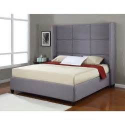 King Size Bed Details About Platform Bed Frame Upholstered Headboard