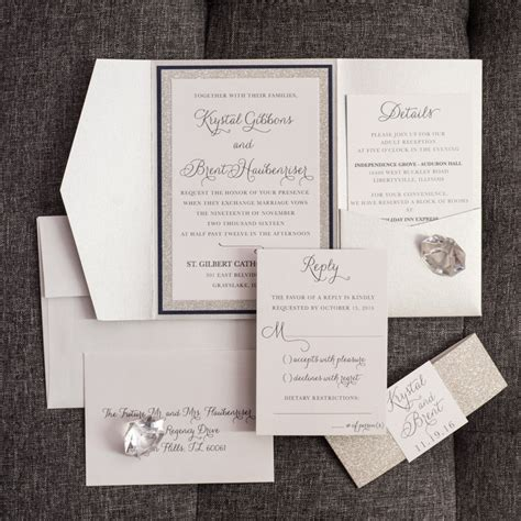 Wedding Invitations Pocket Personalized Vip Card by Pretty Pocket Fold Wedding Invitations Gallery