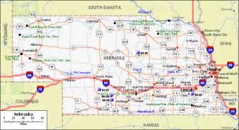 united states map nebraska nebraska map