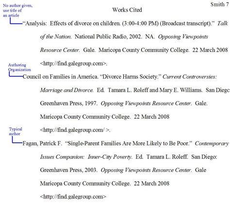 mla  text citations works cited pages