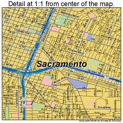 map of sacramento california sacramento california map 0664000