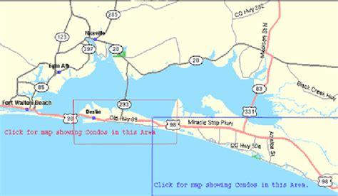 map of destin florida area destin area maps