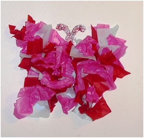 Butterfly Tissue Paper Craft - tissue paper butterfly think crafts by createforless