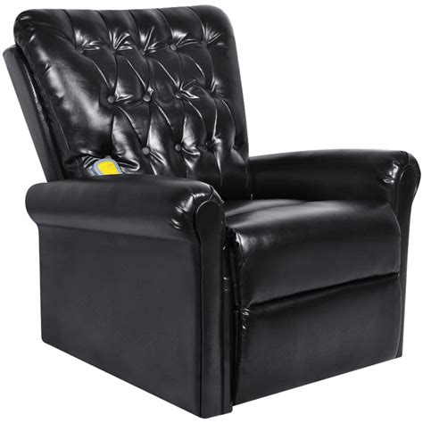 leather massage chair recliner black electric artificial leather recliner massage chair