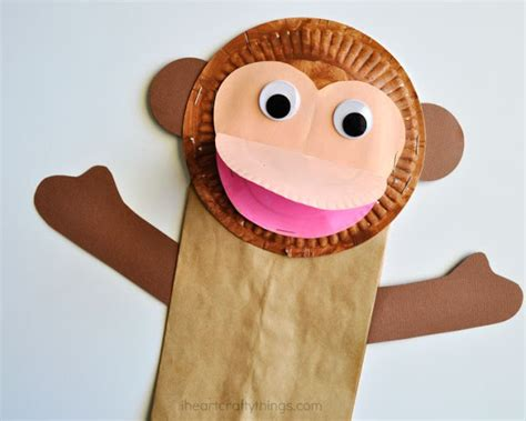 Craft Paper Bag - paper bag monkey craft for i crafty things