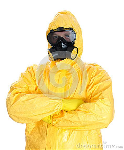 man  protective hazmat suit stock images image