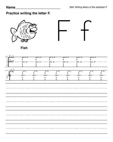 Kindergarten Letter Worksheets by Letter F For Preschool Worksheets Trace Letter F