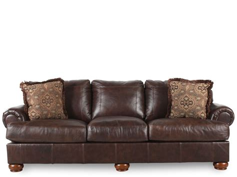 Mathis Brothers Living Room Furniture Axiom Leather Sofa Mathis Brothers
