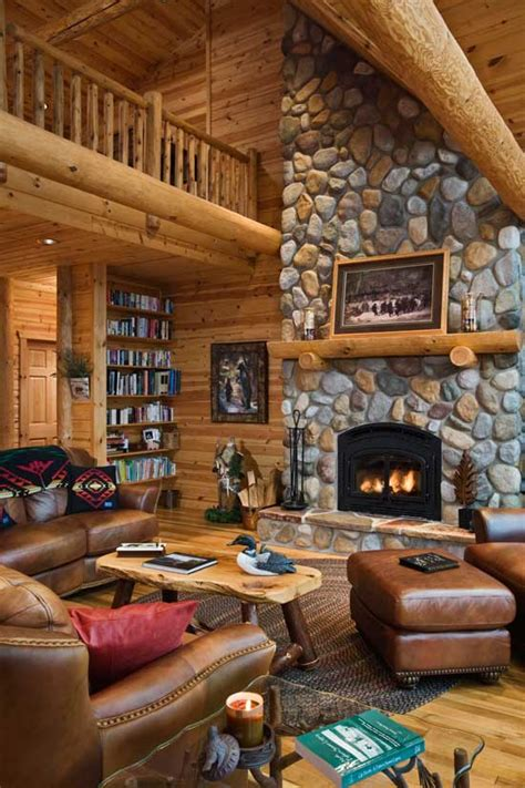 Log Home Interior Photos Beyond The Aisle Home Envy Log Cabin Interiors