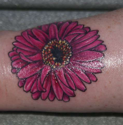 gerbera daisy tattoo design gerber tattoos