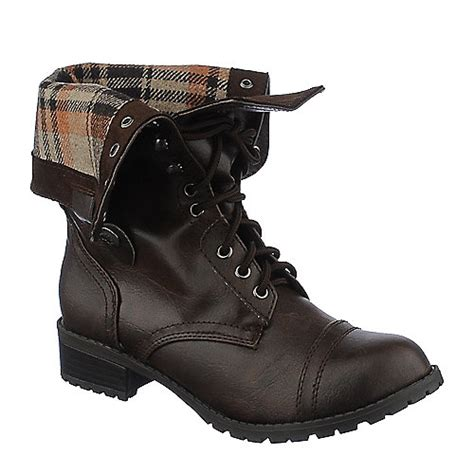 shiekh oralee s s brown fold combat boot