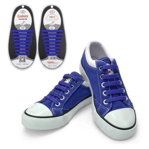 tie shoes 1 set 16pcs novelty no tie shoelaces elastic silicone shoe