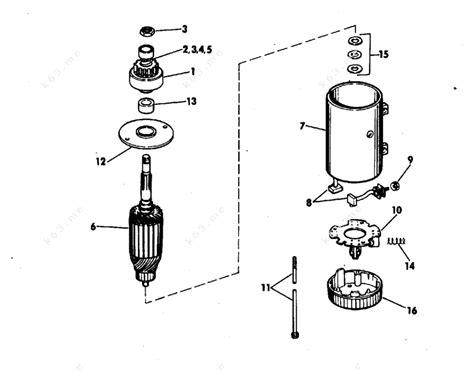 Johnson 1978 115 115etz78c Electric Starter Prestolite