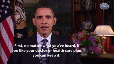 Can You Be A Doctor If You A Criminal Record Obama Vows Repeatedly You Can Keep Your Doctor