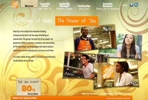 home depot graphic design jobs diversity microsite home depot careers on behance