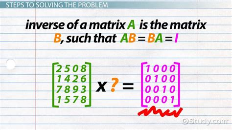 How to Find the Inverse of a 4x4 Matrix - Video & Lesson ... C- 4x4 Matrix Inverse