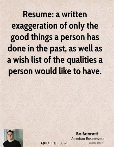 Resume Quotes exaggeration quotes quotesgram