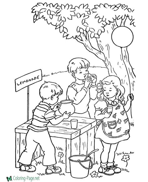 bible story coloring book summer coloring pages lemonade stand