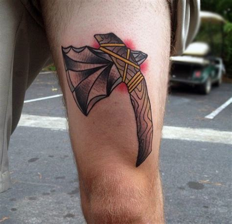 upper thigh tattoos for men 70 tomahawk designs for american indian axe ideas