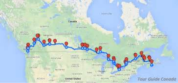 map my route canada travel across canada
