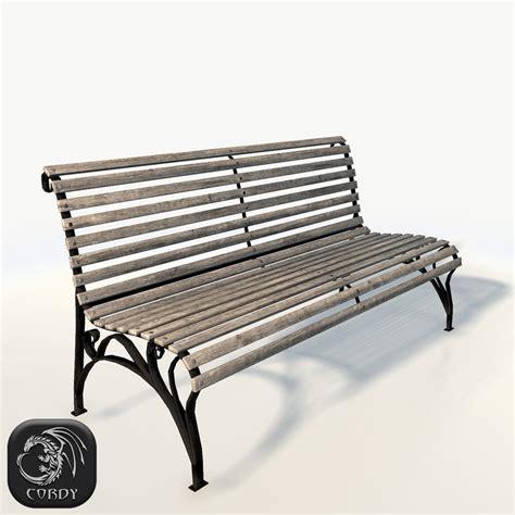 3d bench park bench 3d 3ds