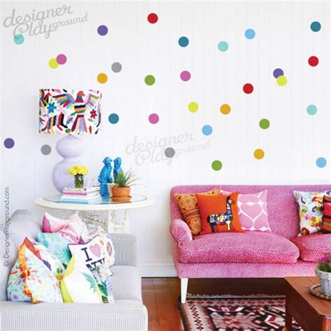 Dot Wall Stickers colourful polka dots wall decal