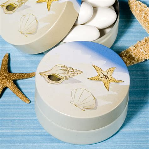 Beach Giveaways - beach themed mint tin favors sang maestro