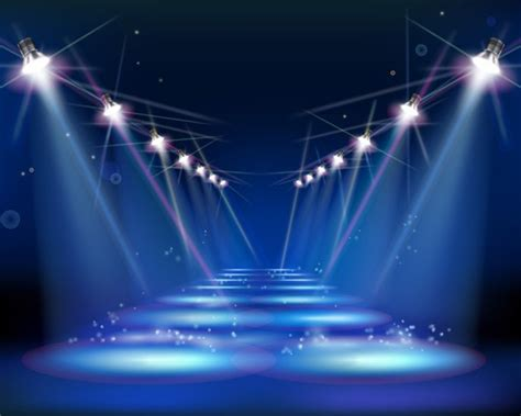 Stage Right Lighting spotlight vector high resolution graphics collection