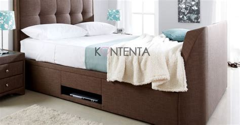 Purpose Of Bed Frame The Multi Purpose Kaydian Windermere Tv Ottoman Bed Frame Is An Exceptional Build Upholstered