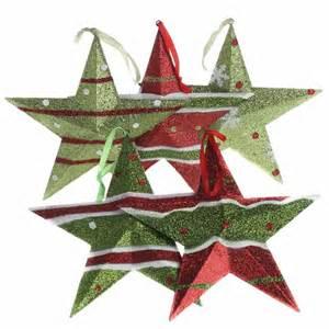glittered christmas metal star ornament christmas