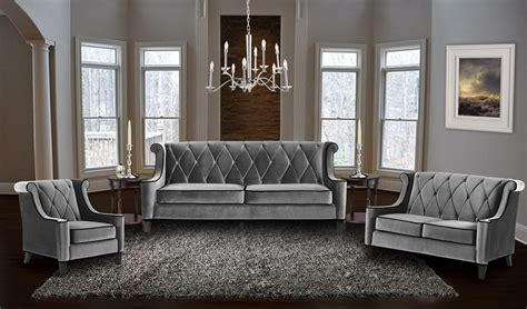 Barrister Gray Velvet Living Room Set Lc8443gray Armen Velvet Living Room Furniture