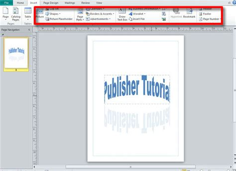 learn the basic functions of microsoft publisher s interface