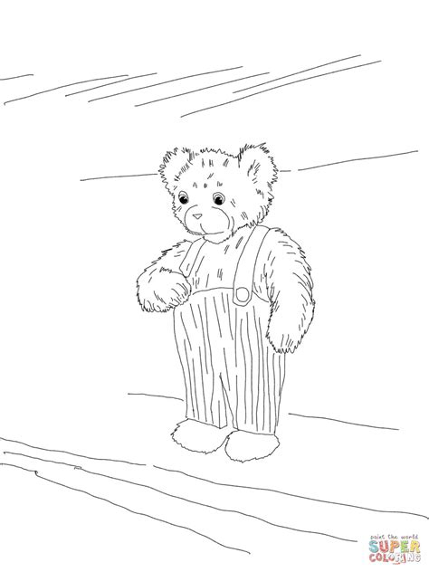 Corduroy Bear Coloring Page Supercoloring Com Corduroy Coloring Pages