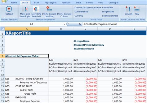 Financial Report Template Editor Oracle Report Manager User S Guide