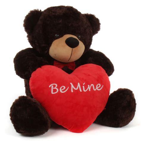 big stuffed monkey for valentines day teddy 38in brownie cuddles valentines day w be