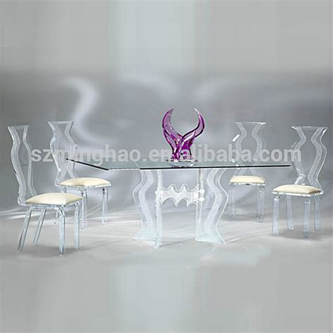 Acrylic Dining Room Set | elegant acrylic glass dining room table set and chairs