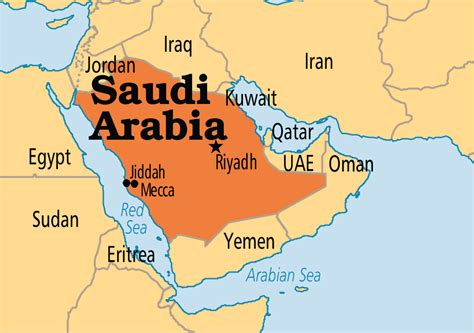 where is saudi arabia on the world map saudi arabia operation world