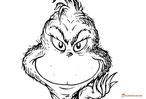 grinch face coloring page grinch coloring pages free printable templates in hd