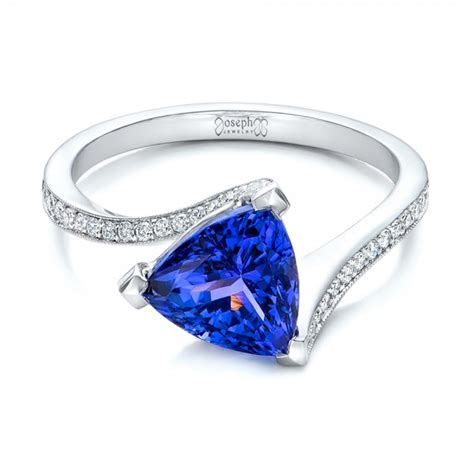 Tanzanite Engagement Rings by Custom Trillion Tanzanite Engagement Ring 102109
