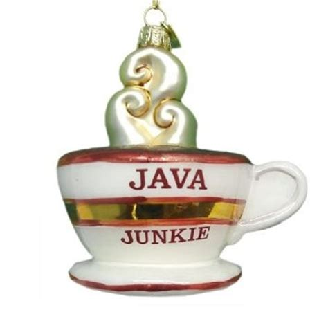 christmas themes for java java junkie christmas ornament great for a coffee themed