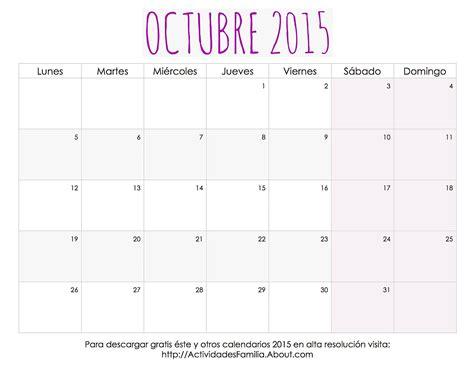 imagenes calendario octubre 2015 celebraciones en octubre 2015